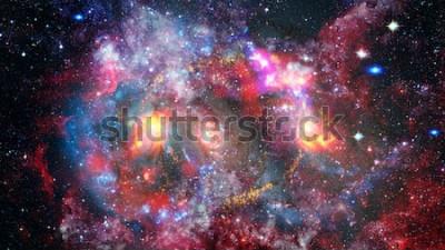 Naklejka Galaktyka Dreamscape. Tło fantazji. Elementy tego zdjęcia dostarczone przez NASA.