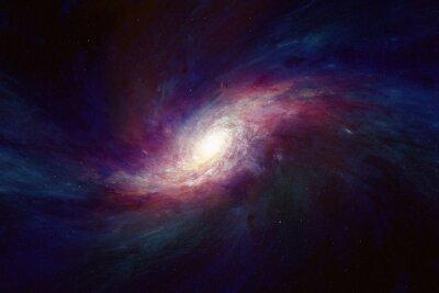 Naklejka Galaktyka spiralna w przestrzeni kosmicznej