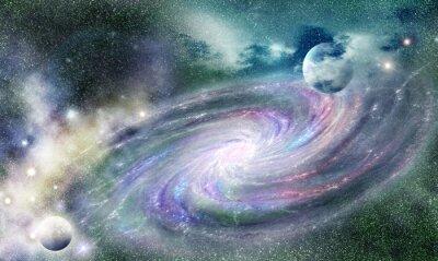 Naklejka galaktyka spiralna w uniwersum