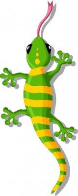 Naklejka Gecko Cartoon podczas projektowania