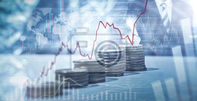 Naklejka Geld - Aktien - Anlage