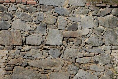 Naklejka gemauert w Stein, alte Steinmauer
