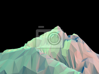 Naklejka Geometryczne 3d Mountain