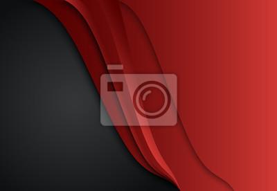 Geometryczne tło czerwone i czarne warstwy abstrakcyjne