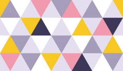 Naklejka Geometryczny wzór trójkąta tło ze skandynawskim streszczenie lub szwajcarski geometrii grafiki wektorowej