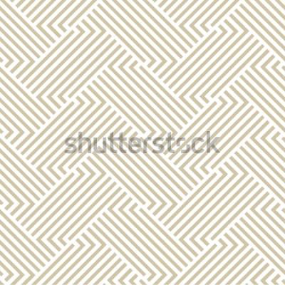 Naklejka Geometryczny wzór w paski. Bezszwowe tło wektor