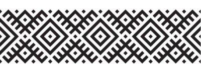 Naklejka Geometryczny wzór w stylu etnicznym wzór
