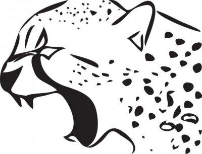 Naklejka gepard