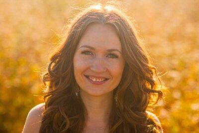 Naklejka GIRL smiling PORTRAIT. sunny day summer