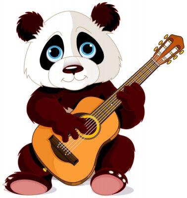 Naklejka Gitarzysta Panda