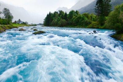 Naklejka Glacier river