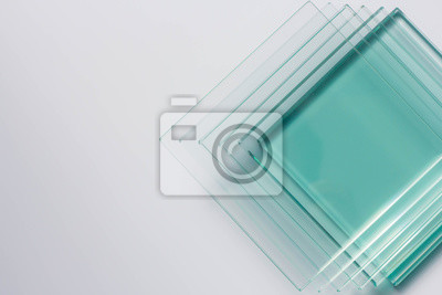 Naklejka Glass Factory produces a variety of transparent glass thicknesses.