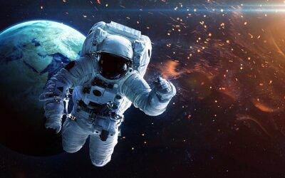 Naklejka Głęboka przestrzeń sztuki. Mgławice, planety galaktyk i gwiazd w pięknej kompozycji. Niesamowite dla tapet i druk. Elementy tego zdjęcia dostarczone przez NASA
