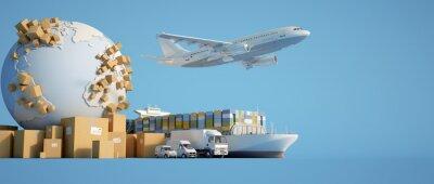 Naklejka Global transportation industry