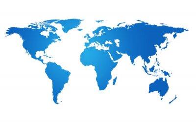 Naklejka Globalizacja Mapa świata Ziemi Concept Global Business