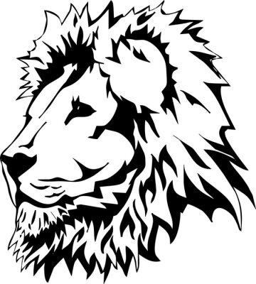 Naklejka Głowa lwa