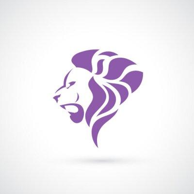 Naklejka Głowa lwa symbol