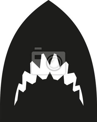 Naklejka Głowa Shark z sahrp zębów