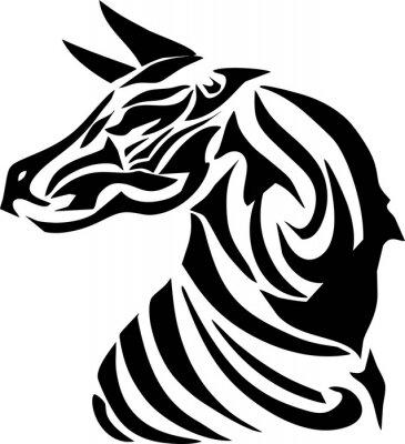 Naklejka głowica zebra