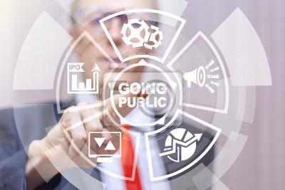 Naklejka Going Public Stock Market Initial Offering IPO Concept.
