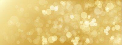Naklejka GOLD bokeh światła w tle