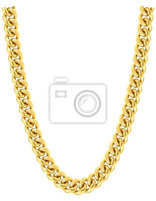 Naklejka Gold chain