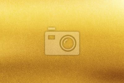 Naklejka Gold texture background. Retro golden shiny wall surface.