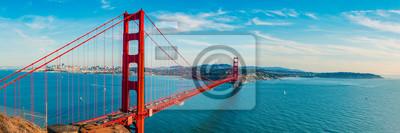 Naklejka Golden Gate Bridge panorama, San Francisco California