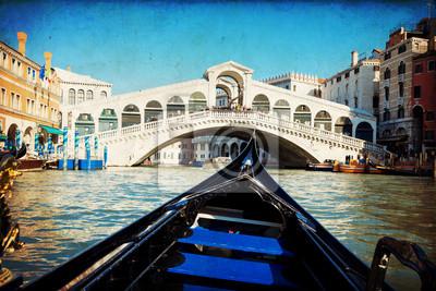 Gondola sotto il Ponte di Rialto - Wenecja