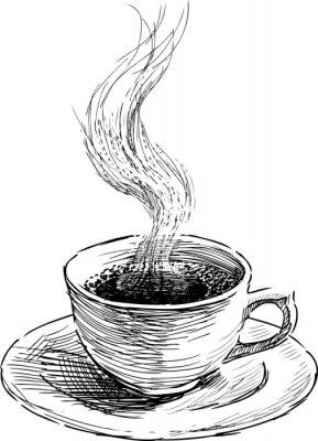 Naklejka gorącej kawy