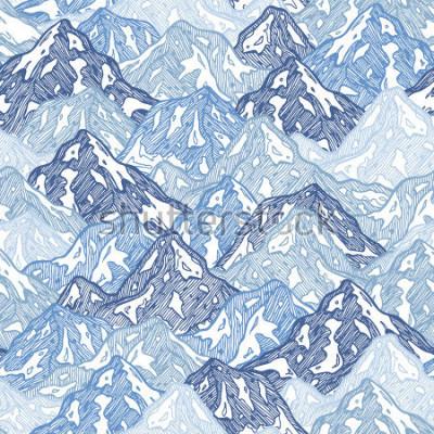 Naklejka Góry bez użycia deseń. Zabawa góry abstrakcyjna ilustracja. Ilustracji wektorowych