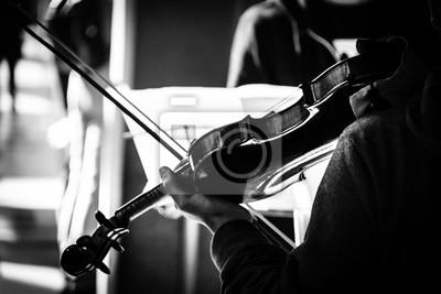 Naklejka Gra na skrzypcach