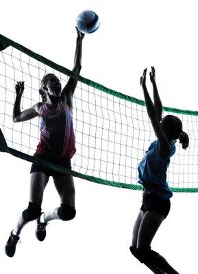 Naklejka Gracze kobiet siatkówka pojedyncze sylwetka