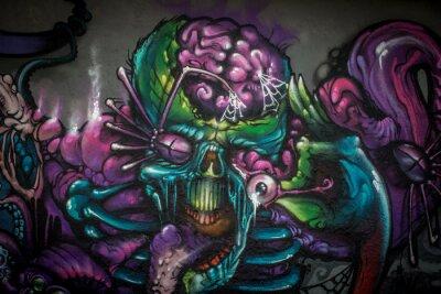 Naklejka Graffiti: Alien Creature