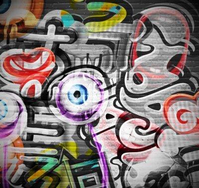 Naklejka Graffiti w tle