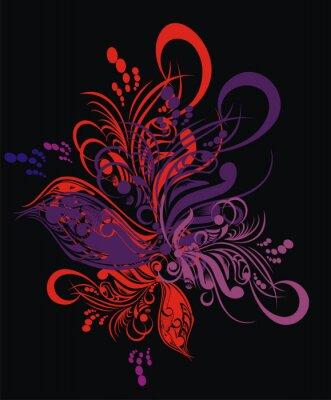 Naklejka Graficzny wzór kwiatowy