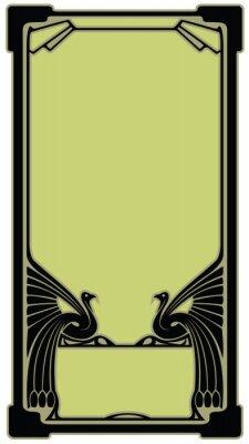 Naklejka Granica z ptakiem w stylu secesyjnym