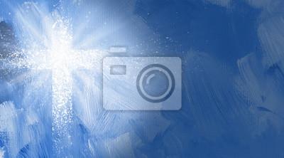 Naklejka Graphic Christian krzyż z abstrakcyjnych promienie światła.