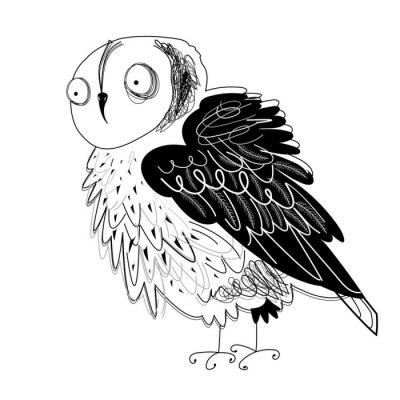 Naklejka graphic owl