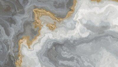 Naklejka Gray-white marble pattern