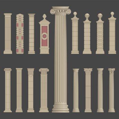 Naklejka Grecki rzymski kolumny filar architektury