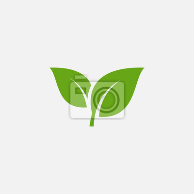 Naklejka Green leaf ecology nature element vector icon, Leaf Icon, green leaf ecology nature element vector