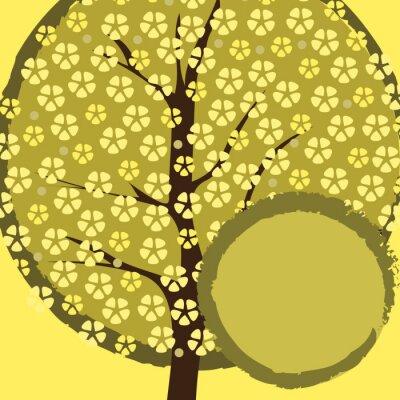 Naklejka Greeting Card: Natura, wiosna, kwiaty wiśni
