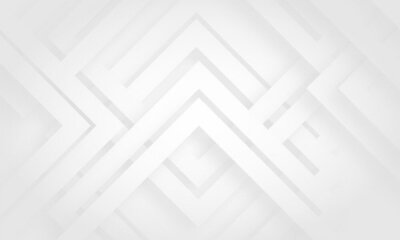 Naklejka Grey white abstract stripe background geometry shine and layer element vector for presentation design. Suit for business, corporate, institution, party, festive, seminar, and talks.