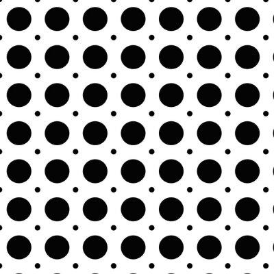 Naklejka Groszki tło z czarnymi kropkami i białym tle