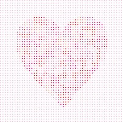 Naklejka groszki wektor valentine serca