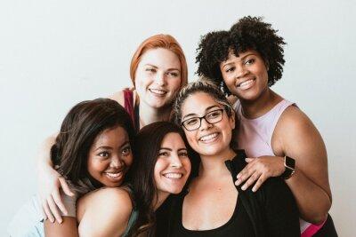 Naklejka Group of active women