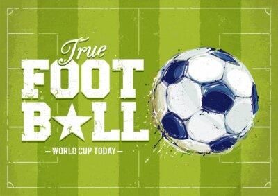 Naklejka Grunge Football Poster