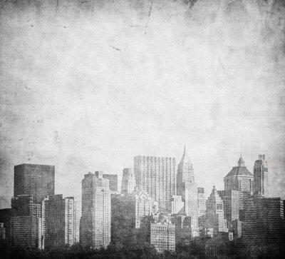 Naklejka grunge obraz Nowego Jorku