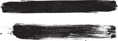 Naklejka Grunge Paint stripe . Vector brush Stroke . Distressed banner . Black isolated paintbrush collection . Modern Textured shape . Dry border in Black